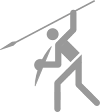 Pictogram: Sport pictogram One Handed Spear 1