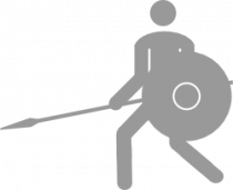Pictogram: Sport pictogram One Handed Spear 2