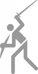 Pictogram: Sport pictogram Sword 2