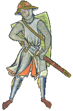 Figure: Maciejowski Bible, swordsman
